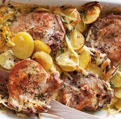 Zapečené vepřové plátky Pork, Chicken, Meat, Recipes, Kale Stir Fry, Recipies, Ripped Recipes, Pork Chops, Cooking Recipes