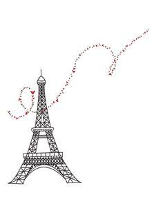 Tour Eiffel, Paris France. Affiche d'art