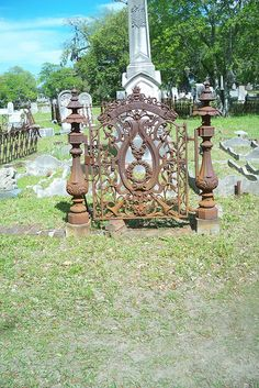 Old iron work, Magnolia cemetery Charleston, SC by katlady4578, via Flickr