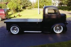 cab over flat Black flat bed Hot Rod Trucks, Mini Trucks, Cool Trucks, Pickup Trucks, Dodge Trucks, Ford Motor Company, Offroader, Vanz, Cab Over