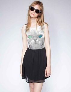 Sweet, demure, and just a little bit freaky — like your favorite sphynx. | 40 Quirky Styles For The Cat Lover's Wardrobe