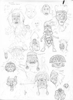 brand new project headed this way. this time its about ancient mythology of my country. there are many native tribes that I'll try to cover. Character Concept, Concept Art, Tiki Man, Make Me Smile, Mythology, Nativity, Knight, Deviantart, Gallery