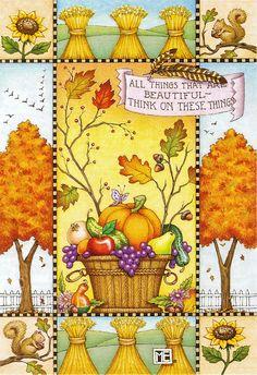 Scenes of Fall ☮~ღ~*~*✿⊱╮Hippie Style, Vintage, Retro Art by Mary Engelbreit , - レ o √ 乇 !! ✿⊱╮❥☮