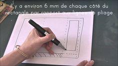 La Carte - marque page avec tuto français en vidéo aux dimensions en cm.