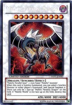 Amazon.com: Yu-Gi-Oh! - Malefic Paradox Dragon (YMP1-EN007) - 3D Bonds Beyond Time Movie Pack - Limited Edition - Secret Rare: Toys & Games