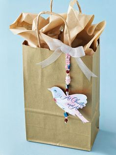 Christmas Card Bird Decoration