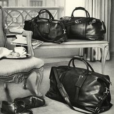A trio of Coach Cabin bags from our 1992 Men's Travel Collection.
