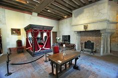 Leonardo da Vinci's Bedroom at Clos Luce Chateau in the Loire Valley of France, Where He Spent the Last Few Years of His Life