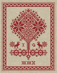Tree of Life - PDF cross-stitch pattern. $4,50, via Etsy.