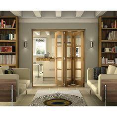 Belgrave 4 Lite Folding Doors - Internal Folding & Sliding Doors - Interior Timber Doors -Doors & Windows - Wickes