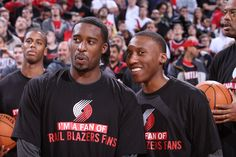 Wes And Nolan Show Their Rip City Support