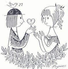 les amoureux de peynet illustrations - Google Search