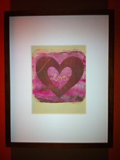 Chocolate Brown & Pink  Heart Print Love Valentines by dinacolada, $10.00
