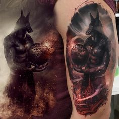 Anubis Tattoo done by Maksims Zotovs