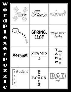 Word Brain Teasers, Printable Brain Teasers, Best Brain Teasers, Printable Crossword Puzzles, Rebus Puzzles, Free Printable Math Worksheets, Logic Puzzles, Brain Riddles, Jokes And Riddles