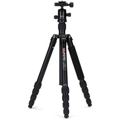 MeFOTO RoadTrip Aluminum Travel Tripod with Ballhead, 17.6 lbs Load Capacity, 5.13' (1.56m) Max Height, Black
