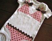 Items similar to Pink and Brown Polka Dot Bikini Onesie on Etsy Sewing For Kids, Baby Sewing, Baby Shower Gifts, Baby Gifts, Baby Mine, Polka Dot Bikini, So Creative, Onesies, Baby Onesie