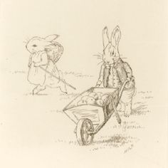 Original bunny sketch by Beatrix Potter