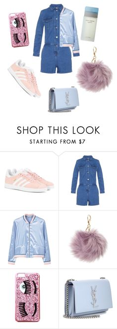 """C iara  F erragni"" by christyandnef on Polyvore featuring adidas Originals, Vanessa Bruno Athé, MANGO, Charlotte Russe, Chiara Ferragni, Yves Saint Laurent and Dolce&Gabbana"
