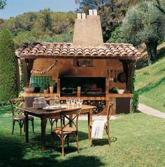 Bucatarie de vara in stil mediteranean
