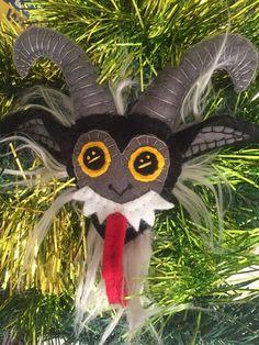 Krampus! Handmade Felt Plushie Ornament ~ Made To Order by elliottsplayground on Etsy