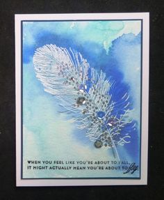 *QFTD205 F4A210 Gaga Feather by hobbydujour - Cards and Paper Crafts at Splitcoaststampers