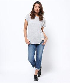 plage select(プラージュ セレクト)のCATHRINE HAMMEL リネンTシャツ(Tシャツ/カットソー)|詳細画像2015SS CATHRINE HAMMEL ノルウェーのオスロを拠点に活動するファッションブランド 近年ファッション界で注目を集めている北欧発のブランドです 女性らしさとベーシックさを持ち合わせたアイテムを展開し、シルエットの綺麗さとスタイリングの新しさが特徴的です