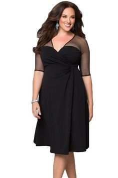 New Plus Size Fashion Half Sleeve Work Wear Sugar and Spice Dress Cozy