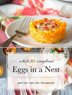 These Whole30-compliant Eggs in a Nest are a delicious break from your boring breakfast. #paleo #whole30