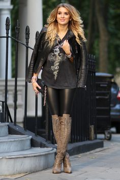 MungoLife                                                           Gorgeous fall outfit with beautiful high knee boots...