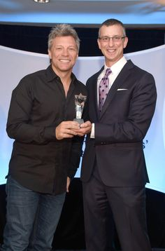 Jon Bon Jovi with the @NMPAorg Songwriter Icon Award