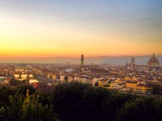 Sunset. Piazzale Michelangelo, Florence, Italy
