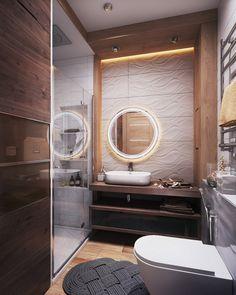 современный интерьер санузла с душевой кабиной
