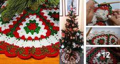 Alfombra para el Arbol de Navidad a Crochet