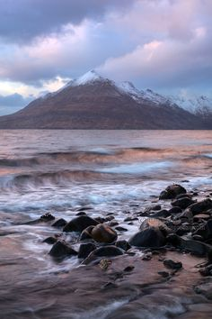 The dying Sun casts a red glow on Loch Scavaig, Elgol, Isle of Skye, Scotland. Looking towards Garbh Bheinn, Black Cuillin. Beautiful Places To Travel, Amazing Places, Cool Places To Visit, Great Places, Highlands Scotland, Skye Scotland, Scotland Travel, Coastal Pictures, Island Of Skye