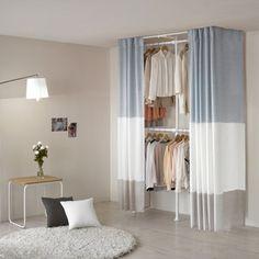 Gmarket - Wangja Hanger Garment rack / Dress room / self assem. Guest Bedroom Office, Closet Bedroom, Home Decor Bedroom, Interior Design Living Room, Living Room Designs, Closet Curtains, Minimalist Room, Closet Designs, My Room