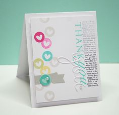 Thankful Hearts Card by Danielle Flanders for Papertrey Ink (March 2013)