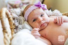 Natural Light Newborn Lifestyle Portrait - Baby Girl in Basket © Angelina M. Photography, LLC