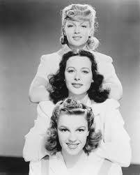 Judy Garland, Hedy Lamarr, Lana Turner (in a still shot from Ziegfeld Girl).