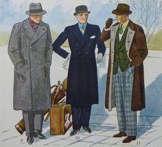 Grey Ulster Coat - Navy Guards Coat - Reversible Overcoat 1932