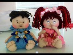 Como colocar cabelo sintético em boneca de pano e como traçar um rosto para molde da sua boneca - YouTube