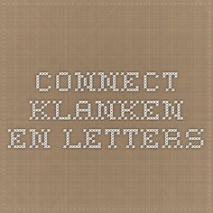 Draaiboek connect klanken en letters Connection, Logo, School, Dyslexia, Logos, Environmental Print