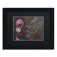 """Trademark Art 'Deception' by Abril Andrade Framed Graphic Art Size: 11"""" H x 14"""" W x 0.5"""" D, Matte Color: Black"""