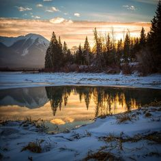 Vermillion Lake, Alberta, Canada. By thingsdavidlikes