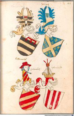 Bruderschaftsbuch des jülich-bergischen Hubertusordens Niederrhein, um 1500 Cod.icon. 318  Folio 112r