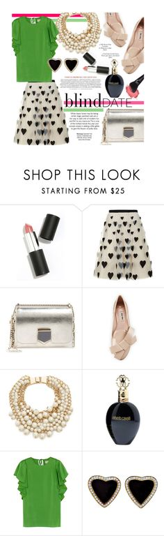 """Ready for love..."" by clovers-mind on Polyvore featuring Sigma Beauty, Alice + Olivia, Jimmy Choo, Miu Miu, Kate Spade, Roberto Cavalli, Lanvin, women's clothing, women and female"