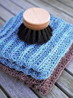 Opskrift på lette og lækre karklude strikket i miljøvenligt hørgarn. Divas, Ravelry, Knit Crochet, Sting, Knitting, Blog, Pattern, Handmade, Clothes