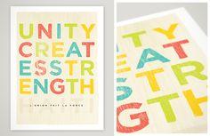 Unity Creates Strength by Jeremy Tyson, via Behance