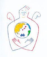地球と天使 イラスト