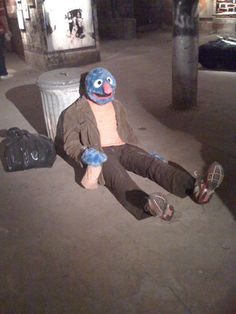 Im telling you... the resessions has been hard on Sesame Street...